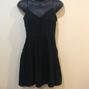 NWT Express Black summer Dress w/ spaghetti straps